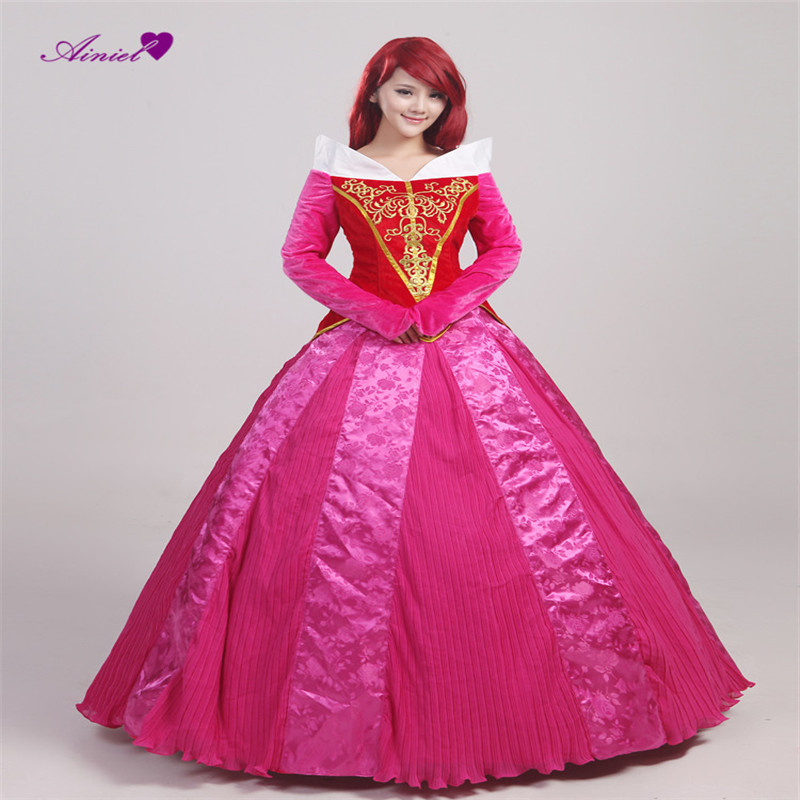 Cosplay New arrival of  the beautiful sleeping Princess Aurora long rend women dress Adults ball gowns CS359502