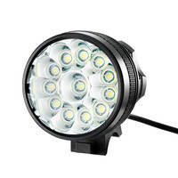 Hot Bicycle Light 12x XM-L T6 LED Bike Headlight 9400 Lumen Mountain Bike Lamp Fishing Light 9600mAh Waterproof Battery&Charger
