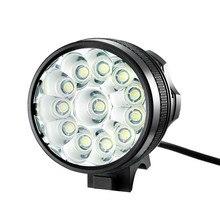 цена на Hot Bicycle Light 12x XM-L T6 LED Bike Headlight 9400 Lumen Mountain Bike Lamp Fishing Light 9600mAh Waterproof Battery&Charger