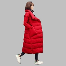 Winter Women Coat 2017 New Casual Thick Warm White Duck Down Jacket Slim Fashion Korean Long Coat High Quality Down Jacket AB232