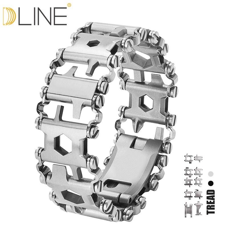 Dline bande de roulement portable 29 en 1 multi-fonction Bracelet sangle multi-fonction tournevis extérieur Kit d'urgence outil livraison directe