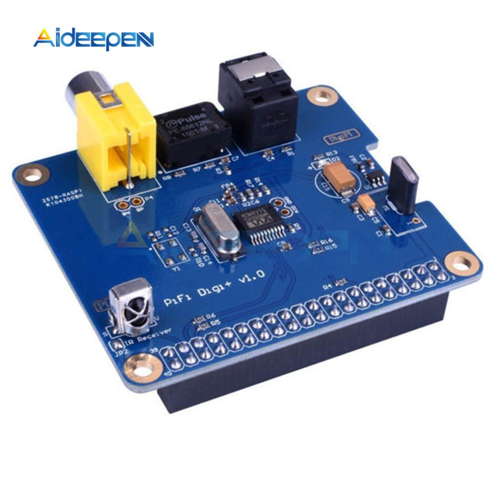 HIFI DiGi + carte son numérique I2S SPDIF carte d'extension Audio numérique Module de fibres optiques pour Raspberry Pi 3/2 modèle B