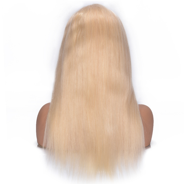 Silky Straight 613 Blonde Lace Front Human Hair Wigs 180% Density Brazilian Lace Front Remy Hair Wig Pre Plucked Favor Hair 8-24 3