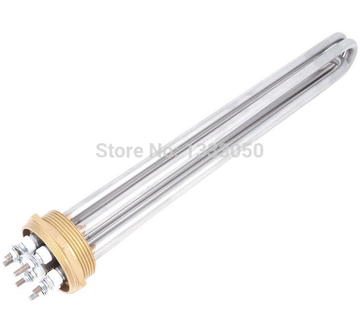 цена на Free Shipping 3U Shaped 10mm Bar Dia Electric Heating Water Heater Element 380V 12000W