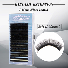 GLAMLASH J B C D Curl Lash Length 7-15mm Mixed In One Tray Eyelash Extension Individual Faux Mink Eyelash soft False eyelashes j g pisendel violin concerto in d major junp i 7 c