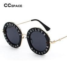 Retro Round Sunglasses English Letters Little Bee for Men & Women