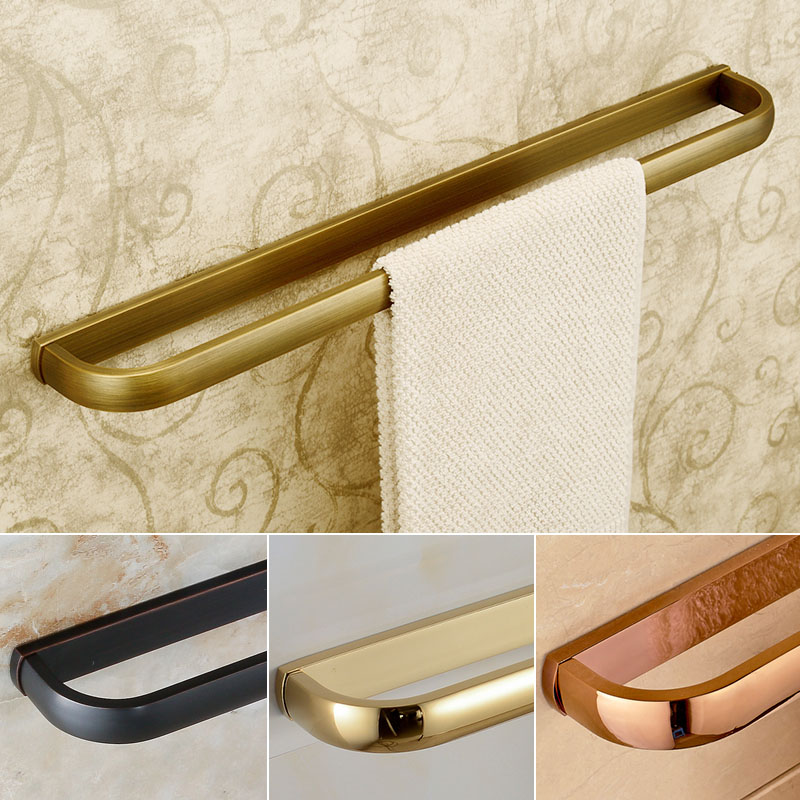 Wall Mounted Bathroom Towel Holders Towel Bars Single Towel Racks Bathroom Accessories 4 style for Choice
