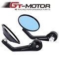 GT Motor-Rodada Da Motocicleta Da Bicicleta do Guiador Espelho Retrovisor Do Lado Do Espelho Com 7/8 ''Oco CNC Alumínio