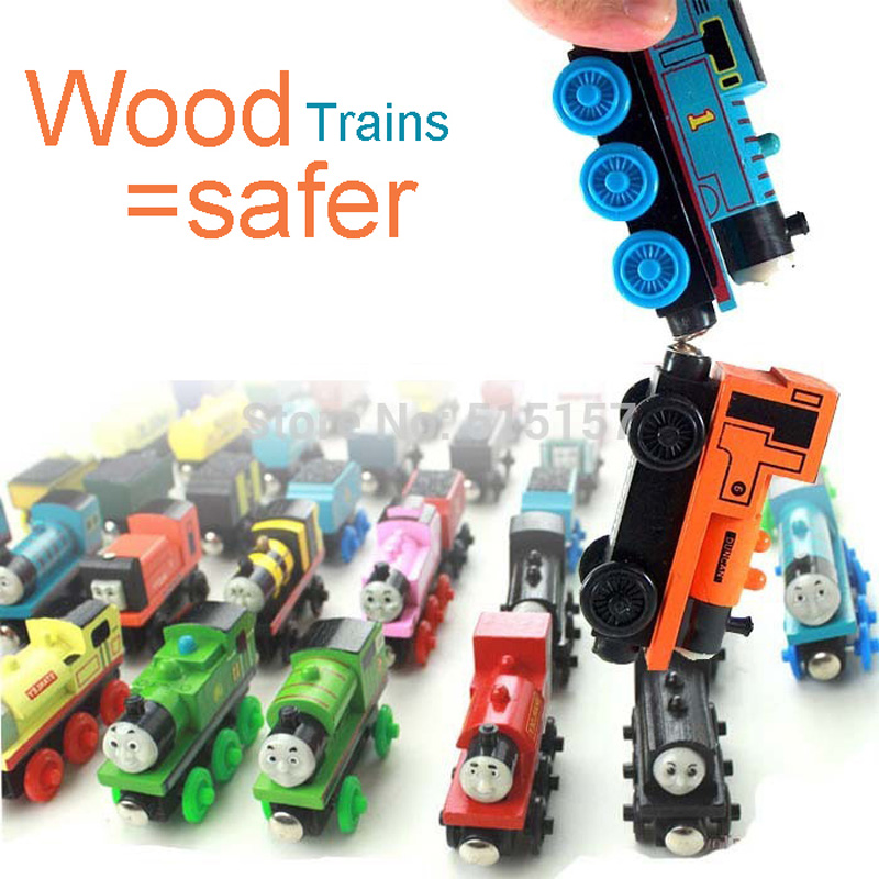 (5 Pieces/Set) Free Ship Wooden Magnetic Thomas And Friends Wood Trains Trackmaster The Tank Engine Children Educational Toys