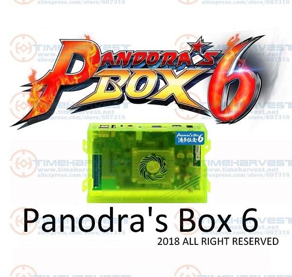Nova chegada original caixa de pandora 6 casa edição 1300 em 1 jogos placa família versão para o jogo joystick arcade marchine gabinete