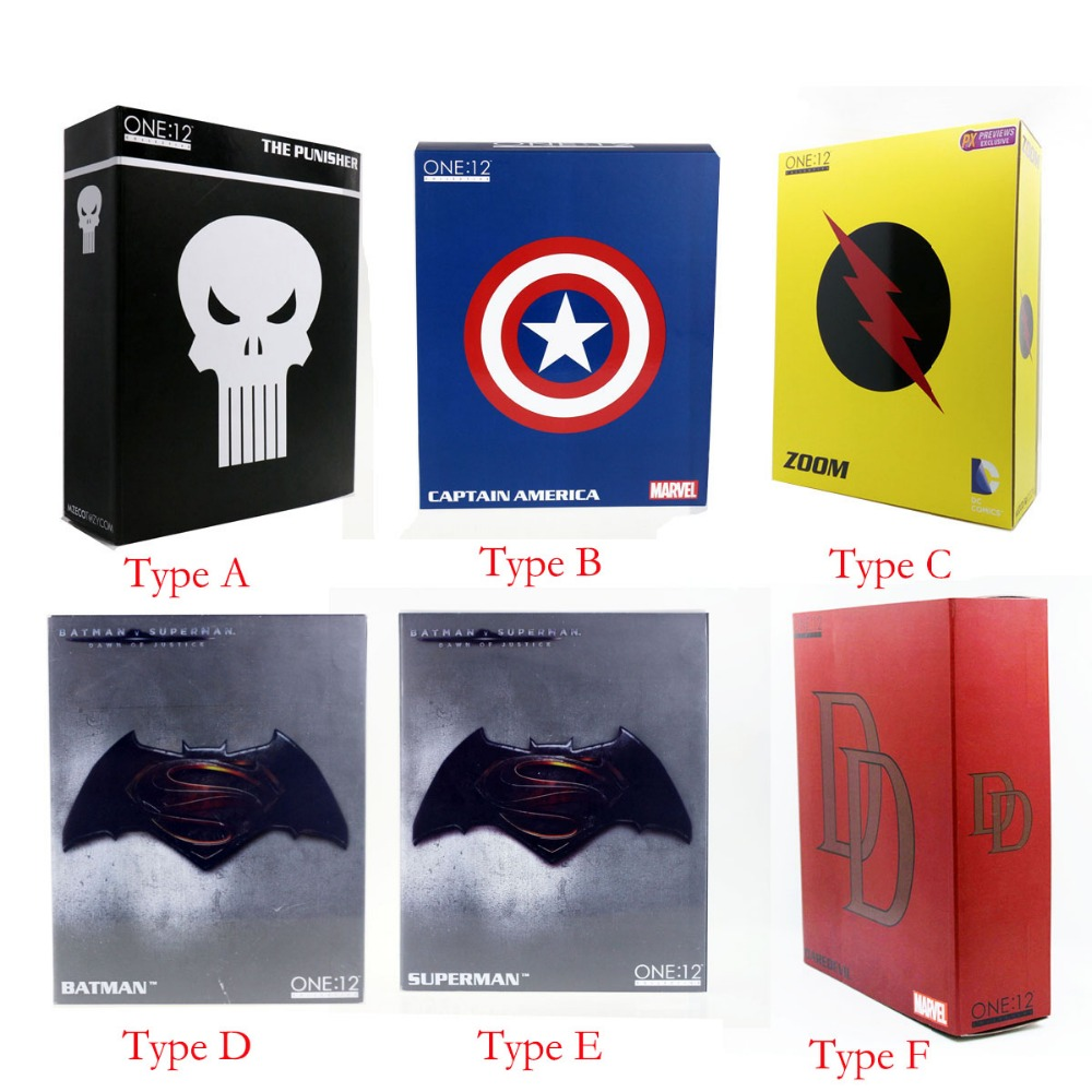Movie One:12 Collective 6 Action Figure Flash Captain Batman Superman The Punisher With retail box Free Shipping hardin collective action