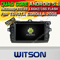 WITSON Android 5.1 Quad Core DVD-ПЛЕЕР АВТОМОБИЛЯ для TOYOTA COROLLA 2007-2012 + 1024X600 HD ЭКРАН + DVR/WI-FI/3 Г + DSP + RDS + 16 ГБ flash