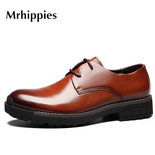 61ad3458034 MRHIPPIES Fashion Italian designer formal mens dress shoes genuine leather  black luxury wedding male shoes office  H203