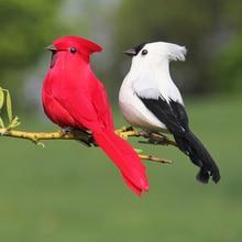 1pc Creative Foam Feather Artificial Parrots Imitation Bird