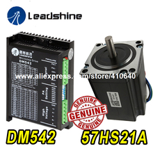 GENUINE Leadshine Stepper  Motor 57HS21A 8mm Shaft 5A 2.1 N.M AND DSP Digital Drive DM542 Delivery TOGETHER