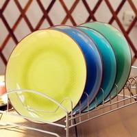 Su Bao disk keramikplatte, steak Pan Westlichen Japanischen geschirr platten mehrfarbwahl kreative eis risse glasur