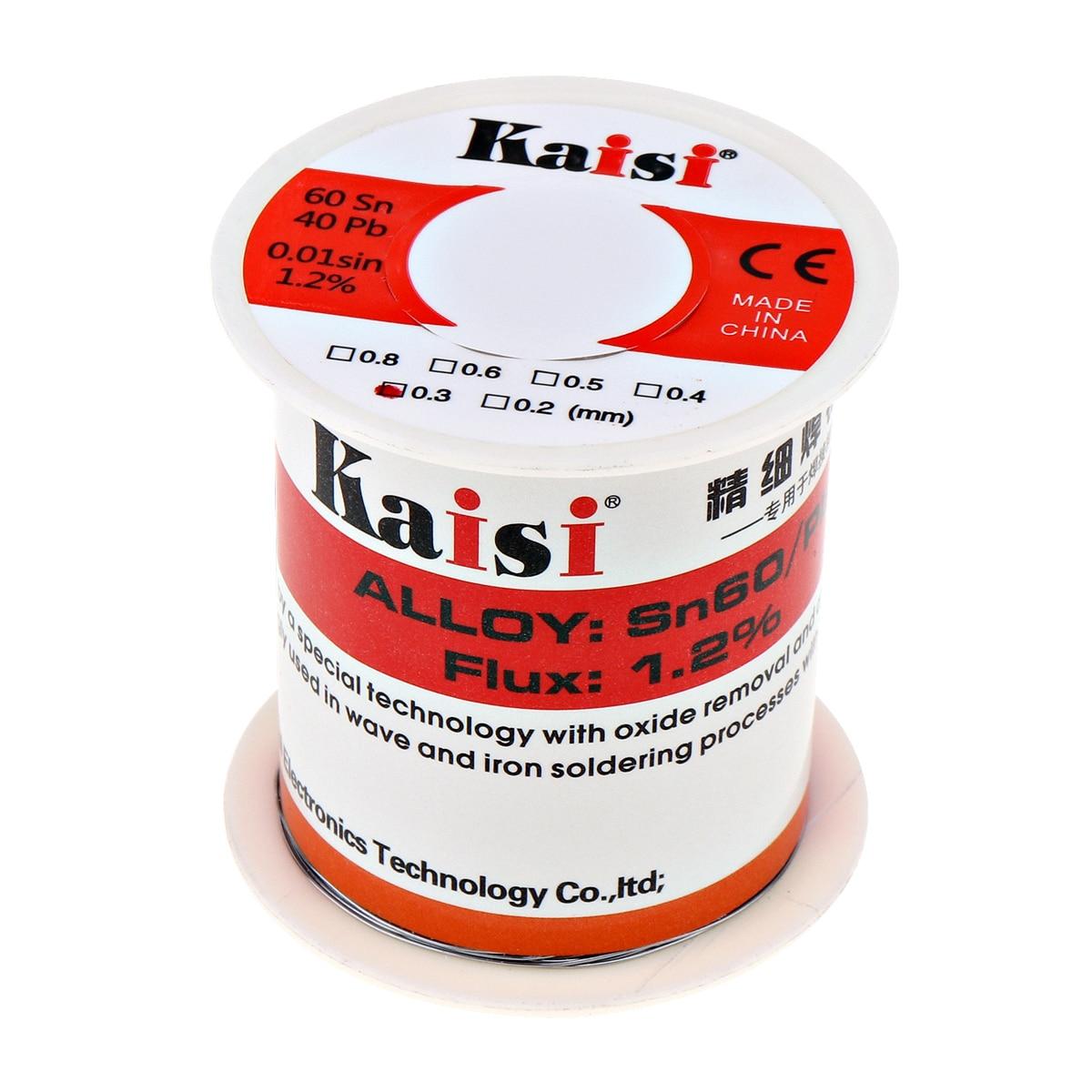 Kaisi 150g Flux 1.2% Rosin Core Pb Solder Wire Sn60/Pb40 per la Saldatura Funziona (0.3mm/0.4mm/0.5mm/0.6mm Opzionale)