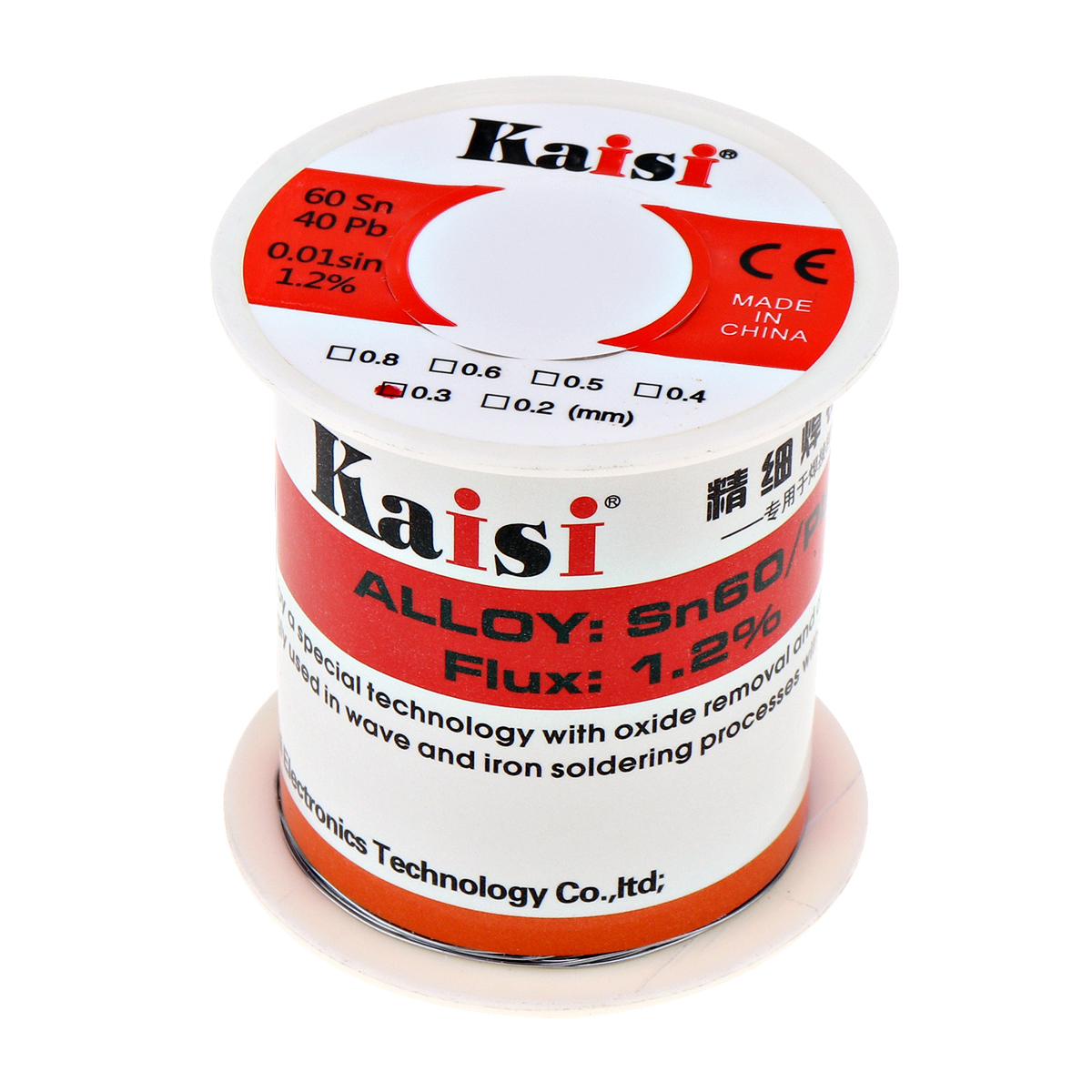 Kaisi 150g Flux 1.2% Rosin Core Tin Lead Solder Wire Sn60 / Pb40 for Welding Works (0.3mm / 0.4mm / 0.5mm / 0.6mm Optional)