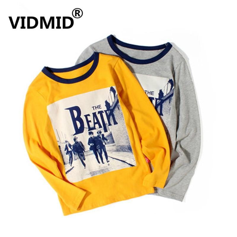 VIDMID Baby Long-Sleeve T-Shirts Tops Clothing Tees Boys Kids Cotton 25 4102 Printing