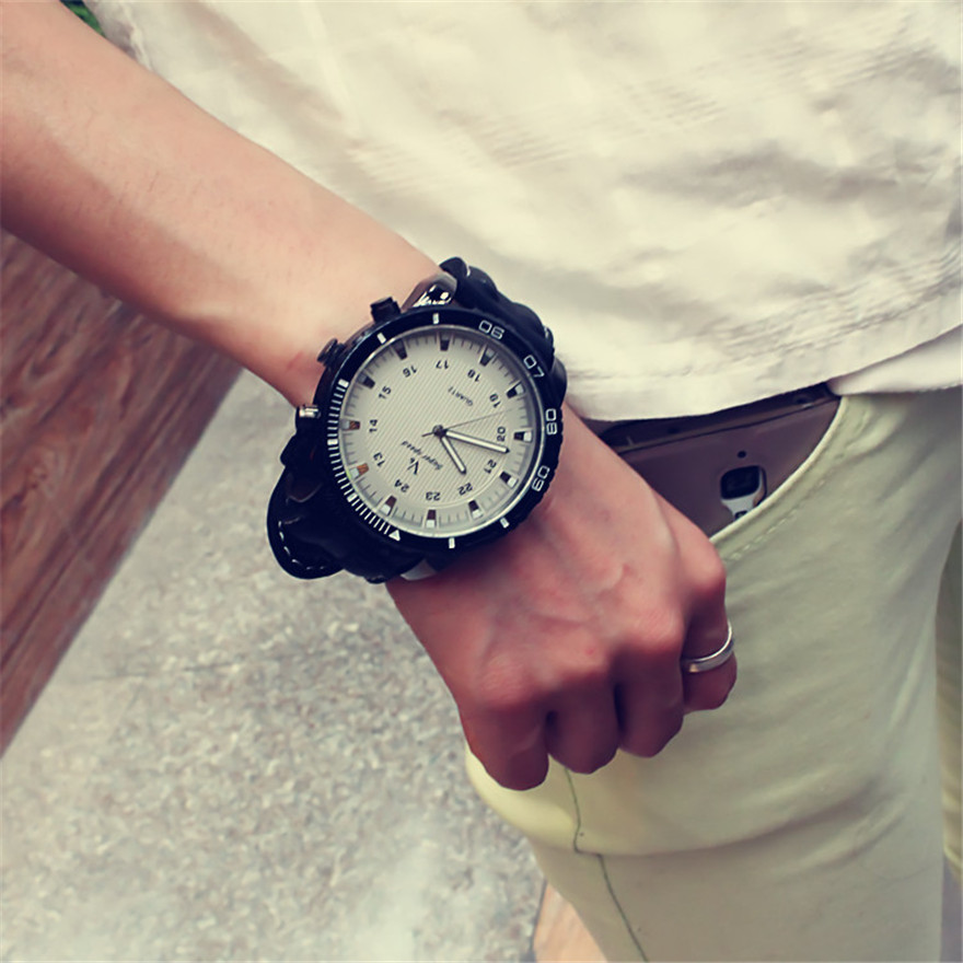 Korean Fashion Relogio Men Necessary Sport Large Dial