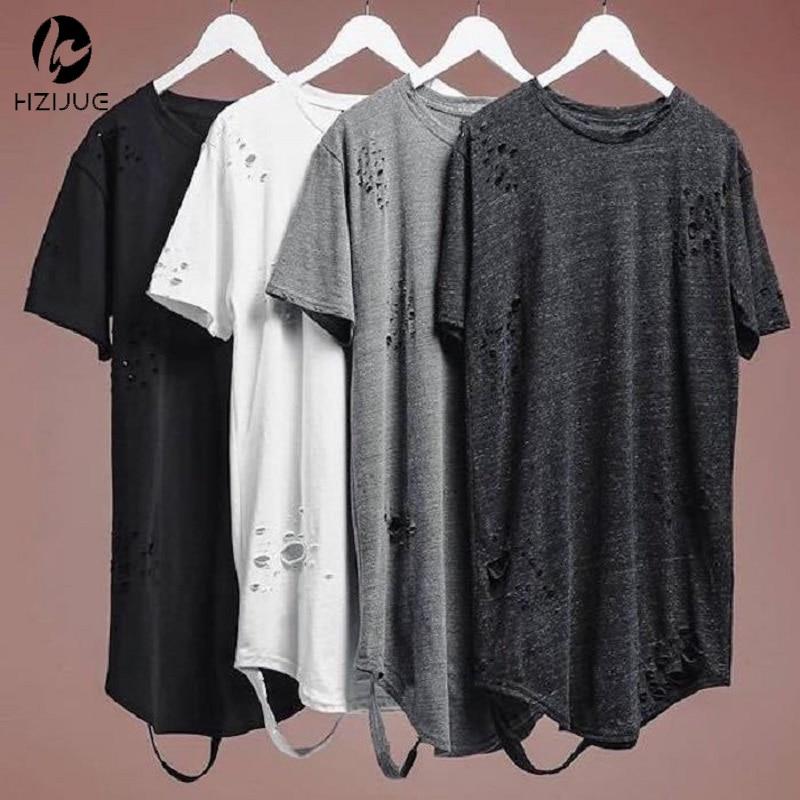 HZIJUE 4 Color 2016 Fashion HIPHOP Man's Designer Brand New Short-sleeve T Shirts  Fashion Cotton Casual T-shirt Size S-XXL