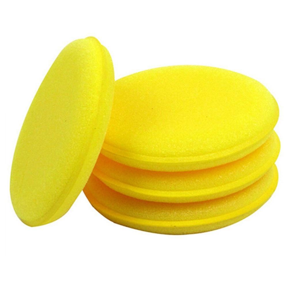 Dongzhen 1x Round Car Waxing Polish Foam Cleaning Wash Sponge / Sponge Wax Car Detailing Pads Car-Styling