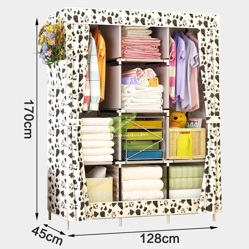 Strong Bearing Home font b Closet b font Storage fabric Cloth Cabinet Kids non Woven Wardrobe