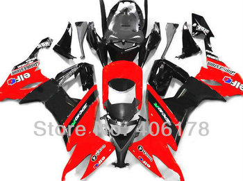 Ninja ZX-10R Fairing Set For Ninja ZX10R 2008 2009 2010 Red Bodyworks Motorcycle Fairings (Injection molding)