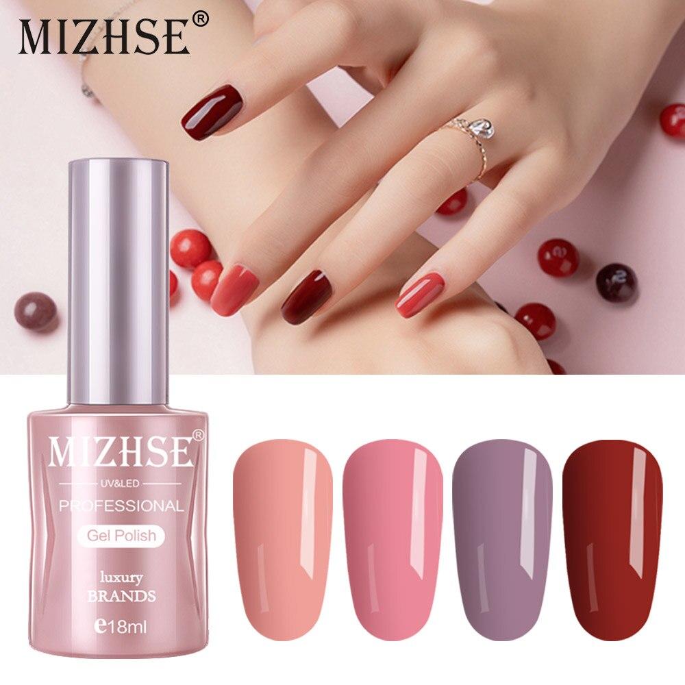 Mizhse Serie Nude Esmalte De Uñas 5 Ml Púrpura Rojo Negro
