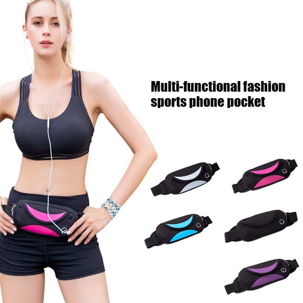 Buy 2018 Outdoor Runnning Jogging Hiking Waist Bag Men Women's Sport Waist Pack Gym Fitness Running Belt Bag For Mobile Phone for only 4.63 USD