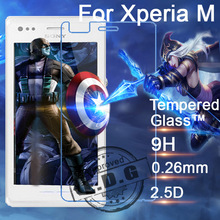 0 26mm 9H Explosion Proof Anti scratch LCD Tempered Glass Film For Sony Xperia M C1904