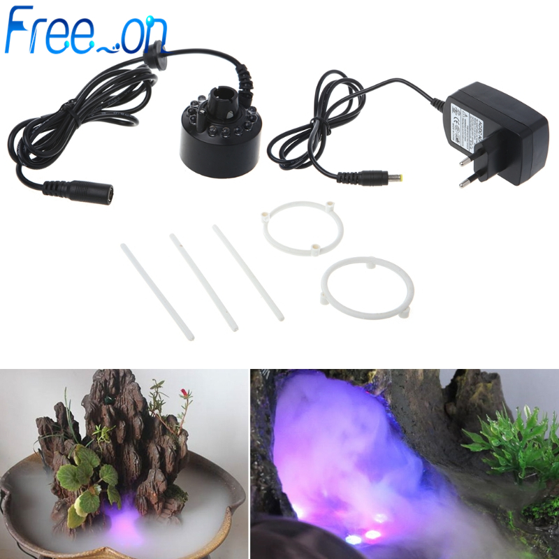 12LED 20mm Metal Super Ultrasonic Mist Creator Fogger Nebulizer Water Fountain