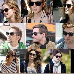 Image 5 - Lente de vidro retro óculos de sol dos homens das mulheres acetato óculos de sol 2140 marca luxo rebite design óculos femininos elegantes quadrados oculos