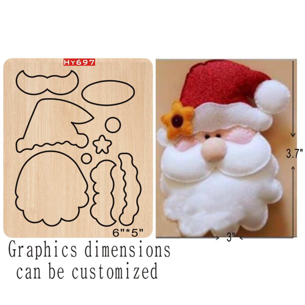 Santa Claus Cutting Dies 2019 New Die Cut &wooden Dies Suitable  For Common Die Cutting  Machines On The Market