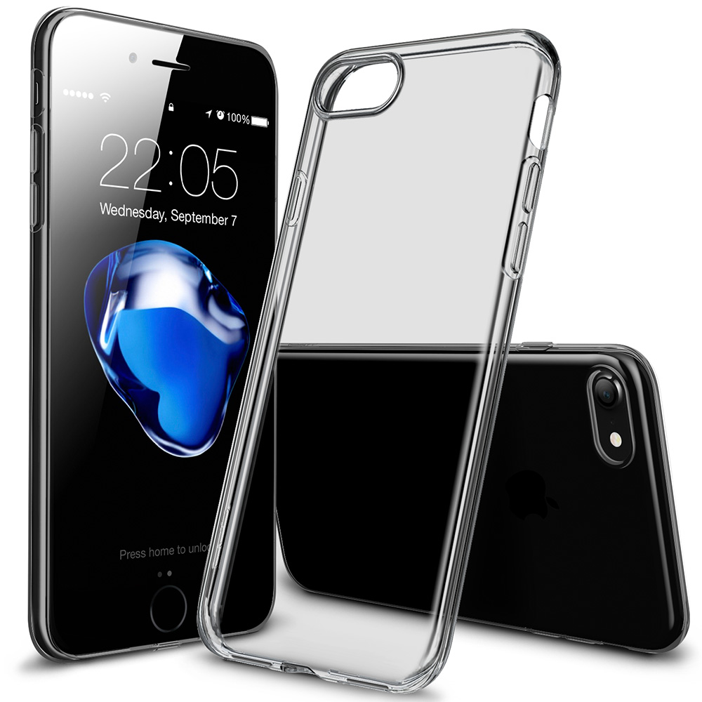 Case for iPhone 7 7 Plus , ESR Soft TPU bumper Clear Case 0.8mm Ultra Thin Light Weight Jelly cover case for iPhone7 7Plus