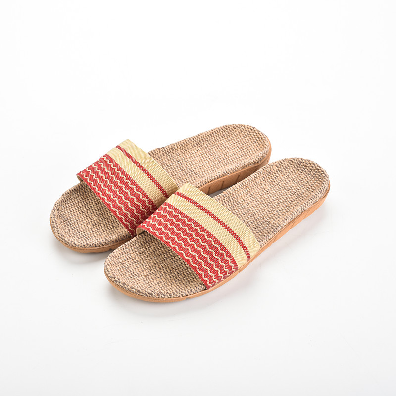 2018 Fashion Summer Home Slippers Anti-slip Flax Linen Indoor Floor Shoes Men Women Lovers Breathable Casual Floor Slippers coolsa women s summer striped linen slippers women hemp slides women s flax slippers breathable non slip fashion indoor slippers