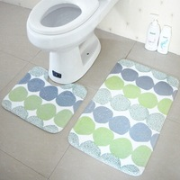 New Design Two Piece Bathroom Carpet PVC Non Slip Shower Mat Super Water Absorbent Foyer Bathroom