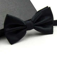 Elegant and Colorful Polyester Bowtie with Metal Buckle