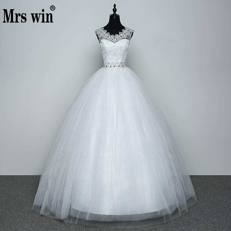 Real Photo Wedding Dress 2019 Hot Sale Applicue Simple Lace Cheap Wedding Gown With Beading Vestido