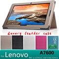 """Para lenovo a7600 case case cubierta de cuero de lujo para lenovo idea tab a10-70 a7600 10.1 """"la tableta de la cubierta case + protector de pantalla"""