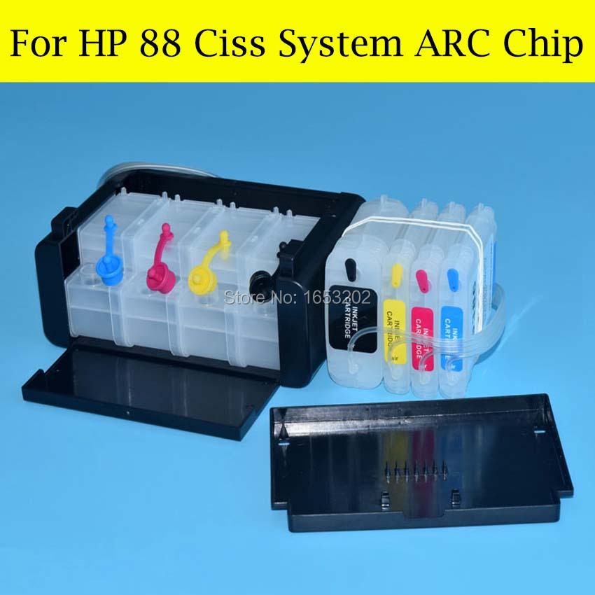 ФОТО 1 Set Continuous Ink Supply System For HP L7590 L7650 L7680 L7681 K7580 K7680 K7780 K550/ K5400 Printer For HP 88 ARC Chip