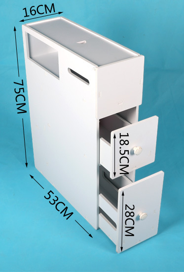 BG231 toaleta szafka boczna szafka boczna stojak na papier toaletowy kurz stojak podłogowy kąt szafka klip wąskie niskiego