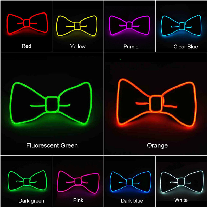 Trustful Led Glasses Light Up Shades Flashing Rave Wedding Party Eyewear Luminous Glowing Night Shows Decors Activities Christmas Supply Evident Effect Men's Glasses