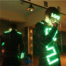 Со светящимися вставками костюм для Для мужчин Костюмы свет Костюмы Одежда для танцев событие для вечеринок принять заказ Дизайн