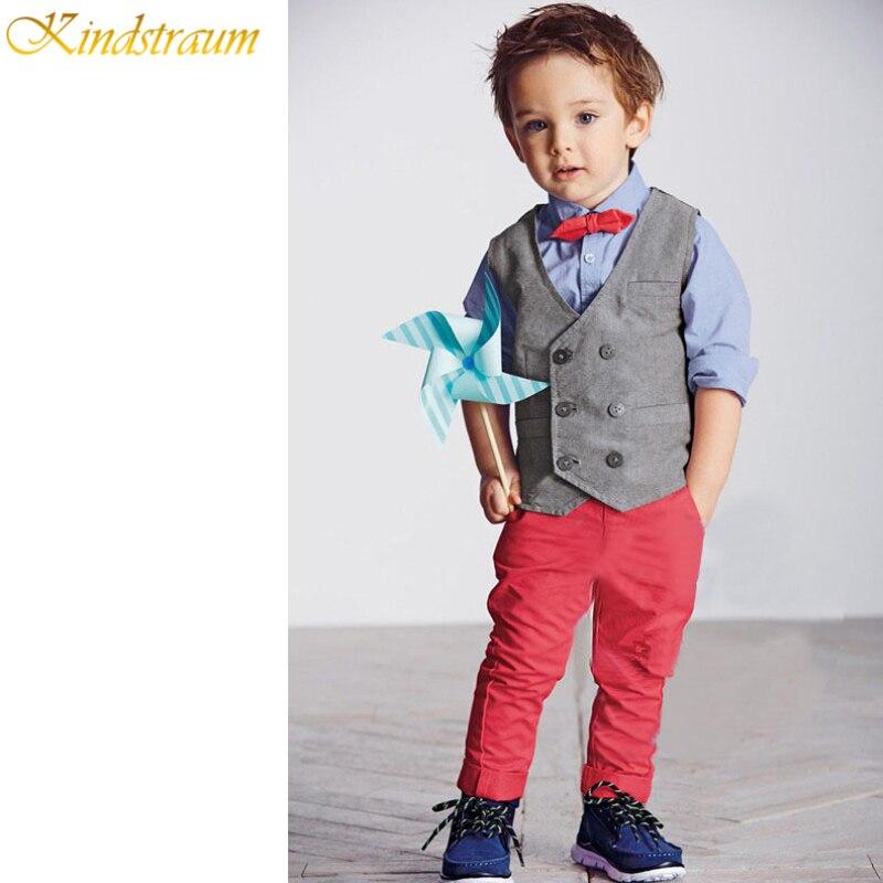 Kindstraum Trend 2017 Formal Clothing Suits For Boys Shirt + Vest + Pants + Tie 4 Pcs/Set ...