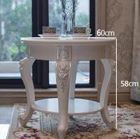 Europe type furniture corner several round. Small tea table.
