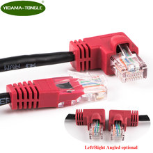 Cable Ethernet Cat5e Cable Lan UTP Cat 5 RJ45 Cable de conexión de red ángulo izquierdo y derecho para PS2 Cable de enrutador Ethernet(China)