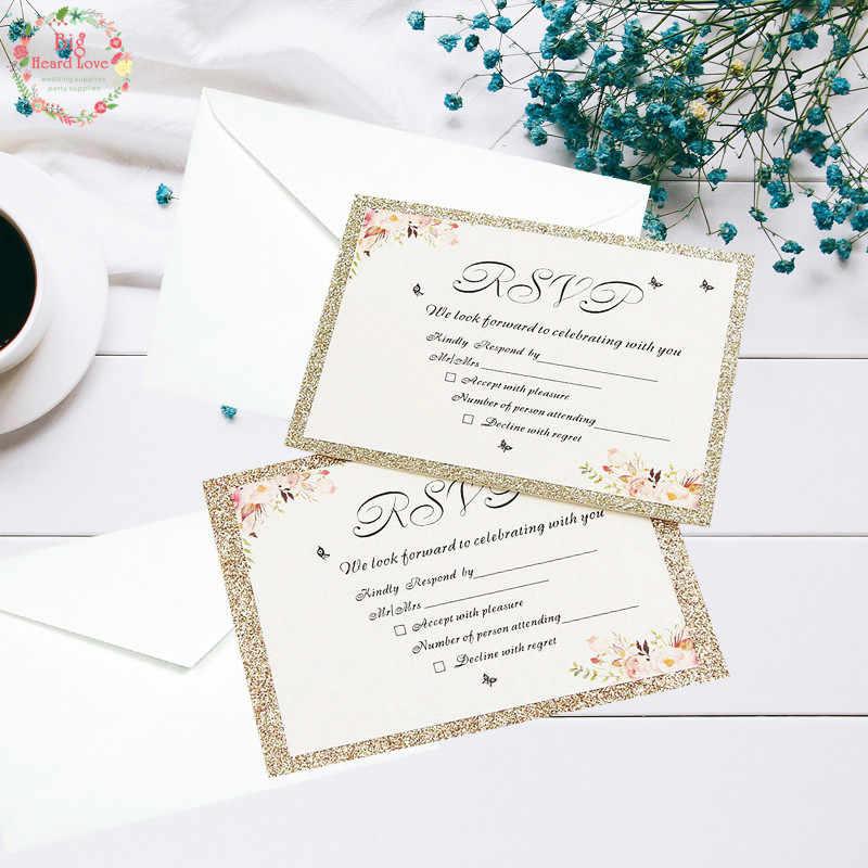 1set Sample Glitte Paper Invitation Card Flower Inlaid Edge