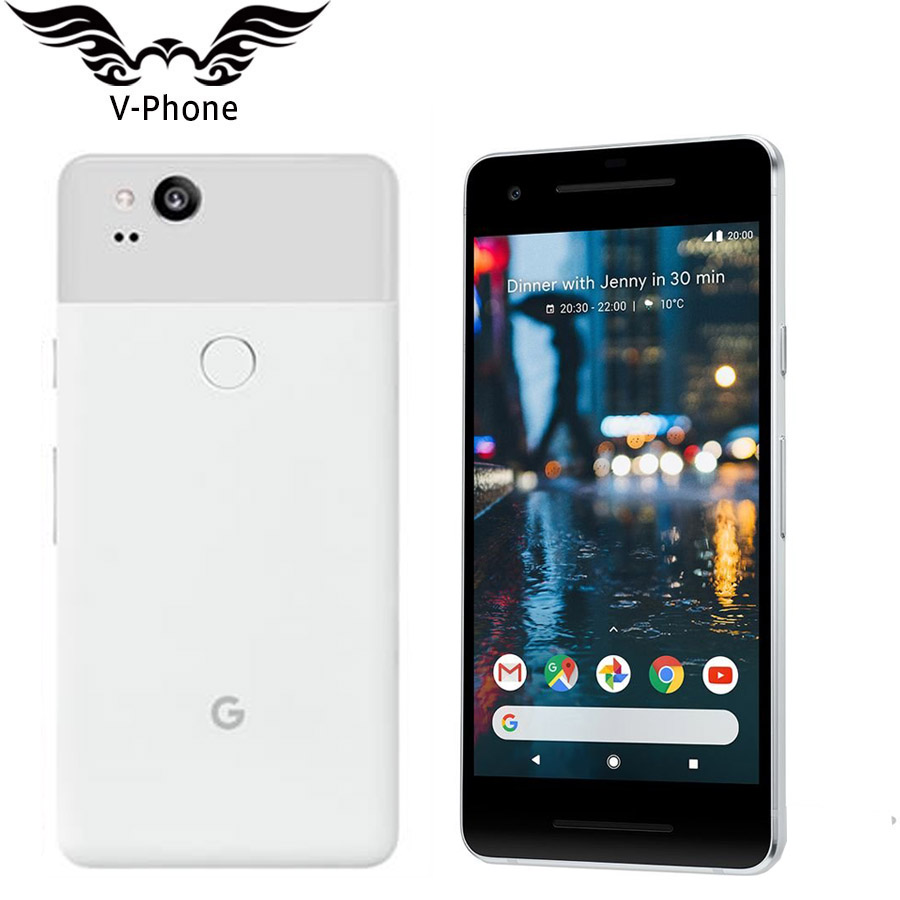 Original US Version Google Pixel 2 4G LTE Android Mobile téléphone 5.0 ''Snapdragon 835 Octa Core 4 GB RAM 64 GB 128G ROM D'empreintes Digitales