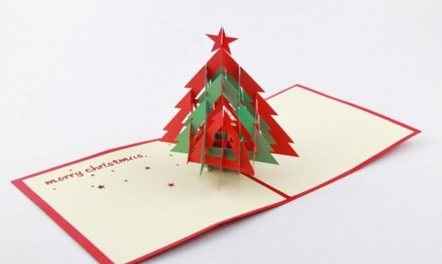 3d navidad rbol3d hace estallar para arriba la tarjetanavidad cardfree - Tarjeta De Navidad En 3d